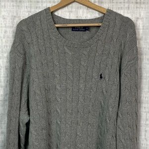 NWT Polo Ralph Lauren Cable Knit Crewneck Sweater